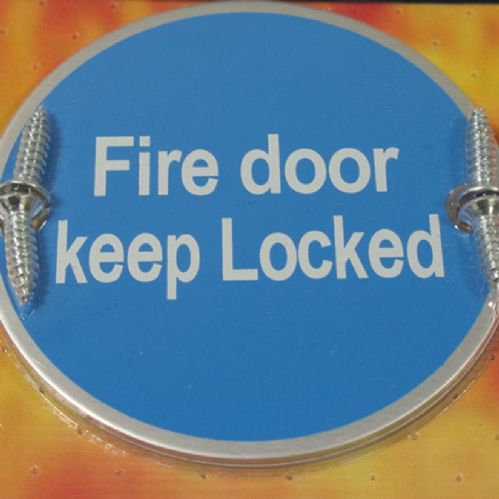 Keep Locked Fire Door Sign